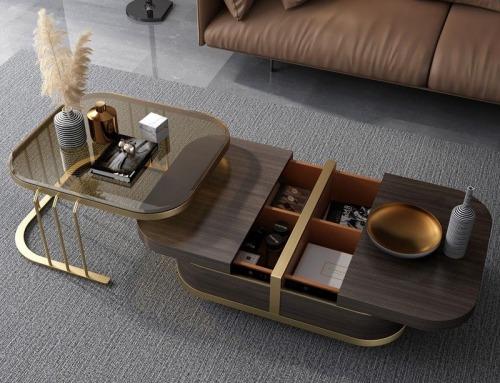 10 Desain Meja Tamu dengan Laci Unik untuk Melengkapi Sofa Anda